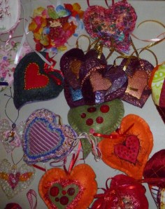 Fiber Arts make fiber Hearts